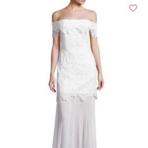 Self-Portrait Off Shoulder Lace Dress Bridal